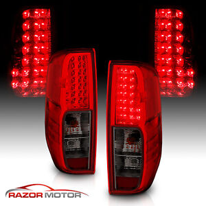 For 2005 2017 Nissan Frontier Red Smoke Led Rear Brake Tail Lights Lamps Pair