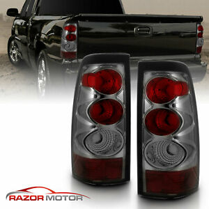 2003 2004 2005 2006 Chevy Silverado 1500 2500 3500 Smoke Tail Lights Pair