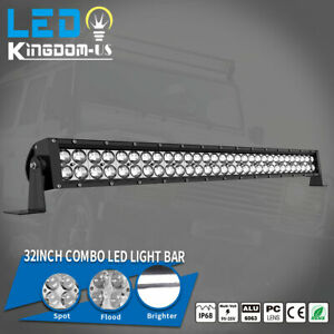 32inch 180w Led Light Bar Spot Flood Combo Boat Ford Offroad Truck Ute 34 Inch
