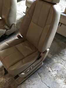 07 14 Chevrolet Tahoe Front Seat Tan Leather Power Oem
