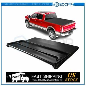 For 2009 2019 Ram 1500 2500 3500 5 8 Ft Bed Tonneau Cover Soft Tri fold