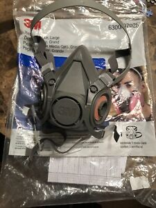3m 6300 Half Face Reusable Respirator Large Filters Not Included
