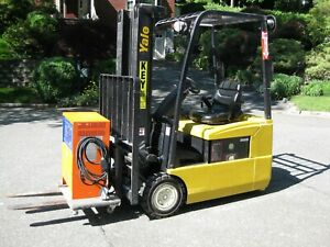 Yale 36v Electric Forklift W Sideshift Battery And Charger Low Hours Excellent
