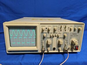 B k Precision 2120 Dual Channel 20 Mhz Analog Oscilloscope New 100 Mhz Probes