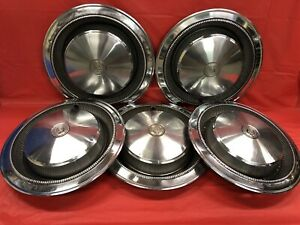 Vintage Set Of 5 197475 Chrysler 15 Hubcaps Imperial