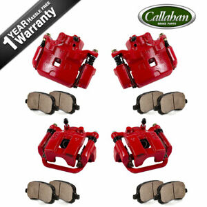 Front And Rear Calipers Pads For 2002 2003 2004 2005 Infiniti G35 Nissan 350z