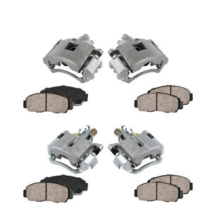 For Allure Lacrosse Impala Grand Prix Front And Rear Brake Calipers Ceramic Pads