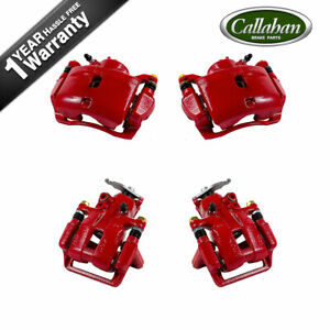 Front Rear Red Brake Calipers For 2008 2009 2010 2011 2012 Honda Accord
