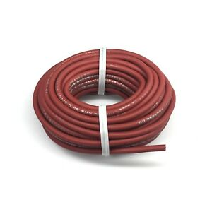 New 25 Ft Red 18 Awg Very Flexible High Voltage Test Lead Probe Cable Wire