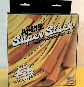 Accel Super Stock Yellow Silicone Street Wire Set