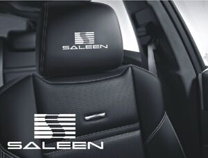 5x Saleen Sticker Logo For Leather Seats And Other Flat And Smooth Surfaces