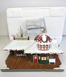 Hawthorne Village Coca Cola Holiday Village Train Station Lighted With COA