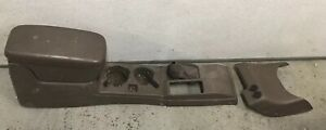 98 04 Toyota Tacoma Extended Cab Center Console Arm Rest Cup Holder Brown