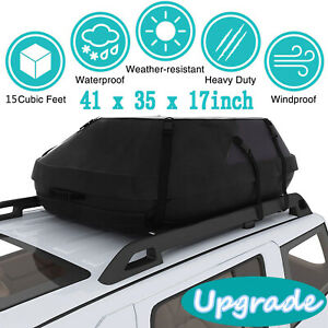 Waterproof Car Top Carrier Cargo Roof Bag Storage Luggage Car Travel 41x35x17
