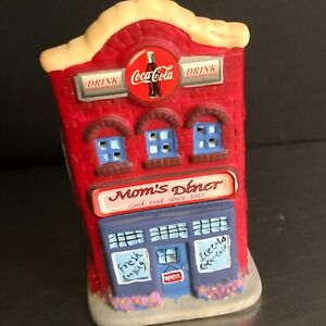 Coca Cola Xmas Votive House Ceramic Candle Holder Holiday Miniature Village