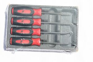 Snap On 4 Pc Red Soft Grip Handle Awl Mini Pick Set Sgasa204cr Brand New