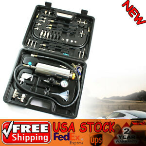 Non Dismantle Tester Set Fuel Injector Cleaner Cleaning C100 Adapter Kit 120psi
