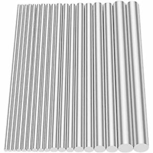 18pcs Aluminum Solid Round Rod Lathe Bar Stock Assorted For Diy Toys Free Ship
