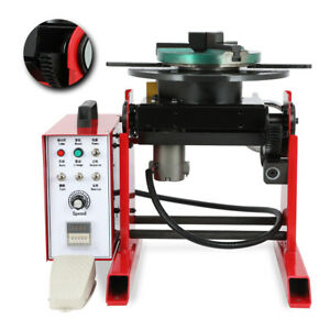Automatic 30kg Rotary Welding Positioner Stepless Speed Control 200mm Chuck 110v