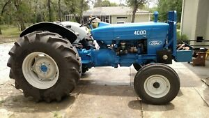 Ford 4000 Tractor Wide Front Diesel Good Condition