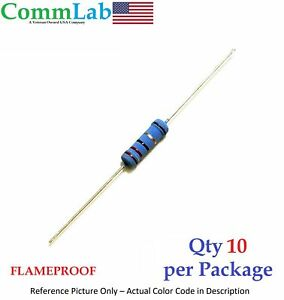 100 Ohm 2 Watt 2w 1 Tolerance Metal Film Resistor 10 Pieces