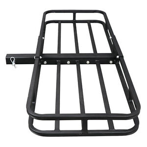 53 x19 Carrier Basket Rack Hitch Mount Cargo Hauler Luggage 2 Hitch Receiver