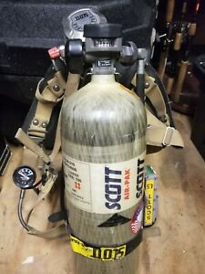 Scott 4 5 Scba Harness Composite Tank Large Mask With Case Bundle 2012 Edition