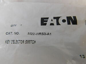 Eaton Nsb M22 wrs3 a1 Selector Switch Non ill 3 Position Black