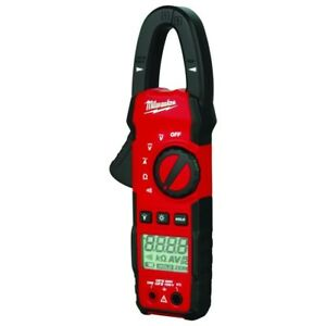 Milwaukee Digital Clamp Meter Tester Rugged Built in Led Work Light 400 Amp Ac