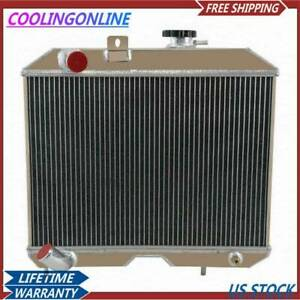 4row Aluminum Radiator For Jeep Willys Truck panel cj 2 cj 3 ford Gpw 1941 52 Cl