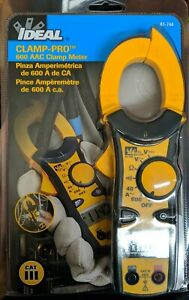 Ideal 61 744 Digital Clamp Meter 600a 600v New cr