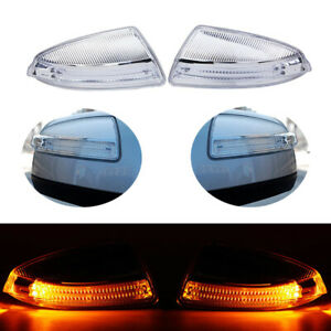 Pair Left right Side Mirror Turn Signal Lights For Mercedes benz Ml C class W204