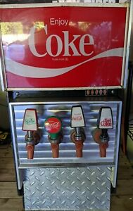 Narco Lighted Coca Cola Soda Pop Fountain Drink Dispenser Coke 4 Tap