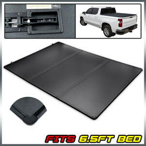 For 04 15 Nissan Titan Standard 6 5ft Truck Bed Hard Tri Fold Tonneau Cover