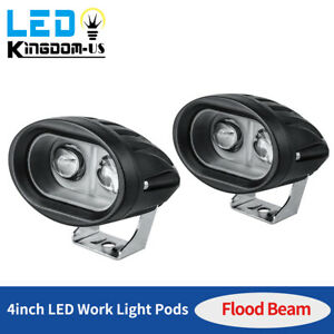 2x 4inch 20w Led Work Flood Light Offroad Fog Reverse Cube Pods Offroad Suv Atv