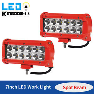 2x 7inch 72w Cree Led Work Light Bar Spot Offroad Atv Fog Truck Lamp 4wd 12v 6