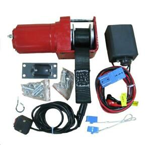Snowbear Winch Kit Complete W Strap Reinforced Frame Four Bolt Mounting Pattern