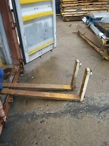 Forklift Forks 1 Pair Of 4 X 48 X 1 5 Class Ii 5400lbs 16 Carriage