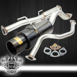 For 92 95 Civic Cx Dx Si 4 5 Tip Catback Exhaust System 3 Piping silencer