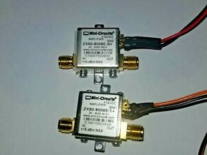 Pair Of Mini Circuits Amplifier Zx60 8008e 1 20 8000 Mhz 8ghz 12 V Zx60 8008 s