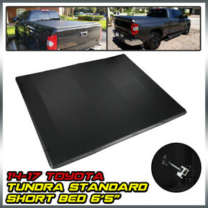 For 2014 2017 Toyota Tundra 6 5ft Standard Short Bed Lock 4 fold Tonneau Cover