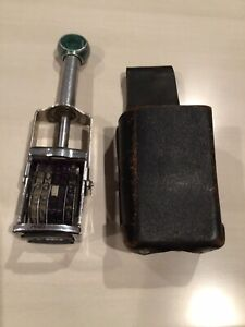 Vintage Garvey Grocery Price Marker model S169a And Leather Holster