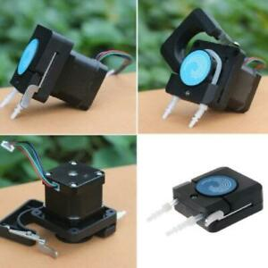 Black Peristaltic Pump Head With Tube Mini Small Flow Stepper Motor Oem Package