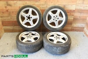 Mercedes Clk500 Clk550 Slk230 Amg 17 Wheels W Tires Set Staggered Oem