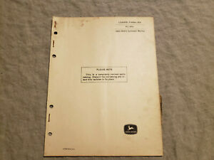 John Deere 36a Loader For 3010 Tractor Parts Manual Book Catalog Pc 870