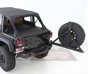 Smittybilt Xrc Rear Bumper Tire Carrier Combo For 2007 2018 Jeep Jk Wrangler