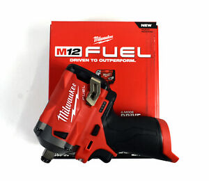 Milwaukee 2555 20 M12 Fuel 12 volt Stubby 1 2 Impact Wrench tool Only