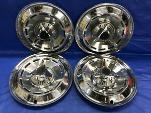 Vintage Set Of 4 1962 Dodge 14 Spinner Hubcaps Dart Polara Mopar
