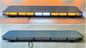 47 Amber 132 Led Slim Light Bar Warning Strobe Tow Truck Plow Police Fire Ems
