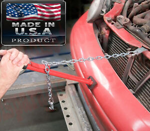 Auto Body Shop Stick Alignment Bar Panel Bumper Chain Hook Puller Pulling Tool